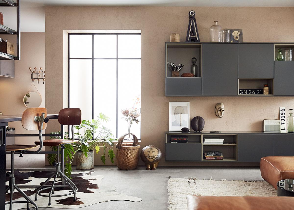 Kjøkken og stue i ett