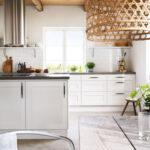 Kjøkken i nordisk stil hvit ask
